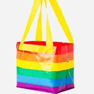 NEW IKEA Small Size Rainbow Reusable Tote Bag